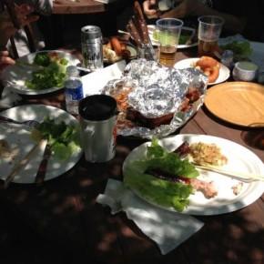 BBQ at Hinohara Village in Tokyo.